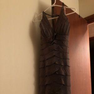 Cache Metallic Cocktail Dress